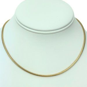 Jewelry - 14k  Gold 9.5g Ladies 2mm Snake Link Necklace 15""